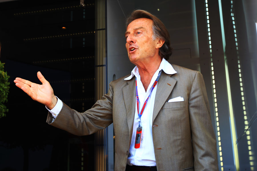 Luca di Montezemolo makes an appearance in the Valencia paddock
