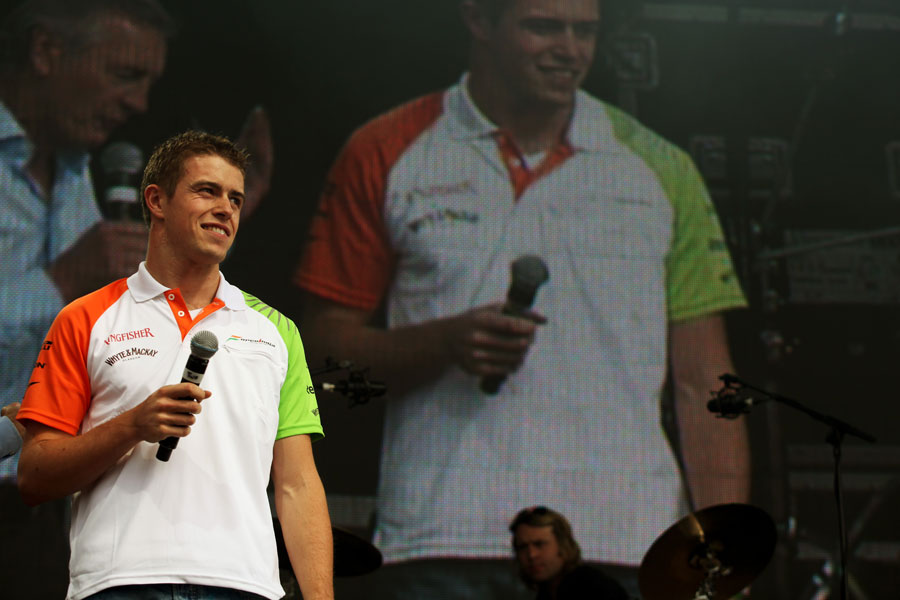 Paul di Resta at the Silverstone post-race concert