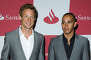 Lewis Hamilton and Jenson Button attending the London Grand Prix VIP Event