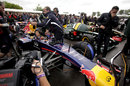 Daniel Ricciardo prepares to drive on the hill in the Red Bull RB7