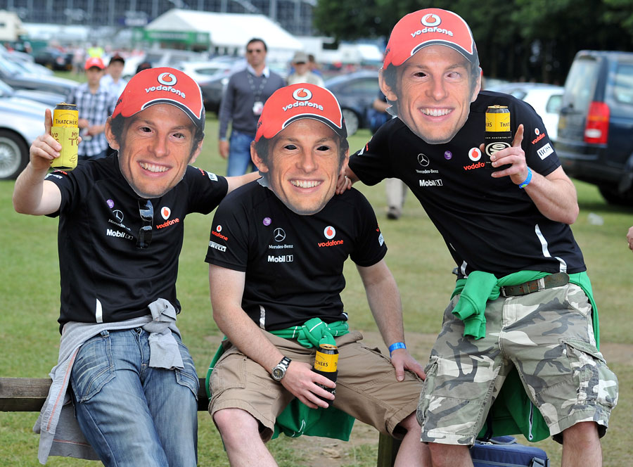 Jenson Button fans show their support