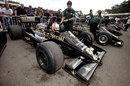 Tom Kristensen in an ex-Aryton Senna Lotus 97T