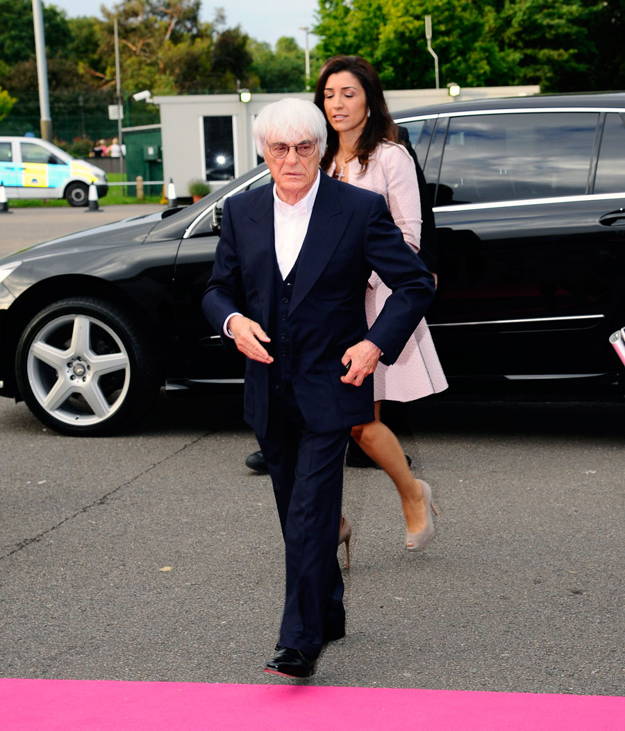 Bernie Ecclestone arrives at the Great Ormond Street Hospital F1 party