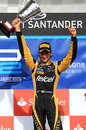 Esteban Gutierrez celebrates victory at Silverstone