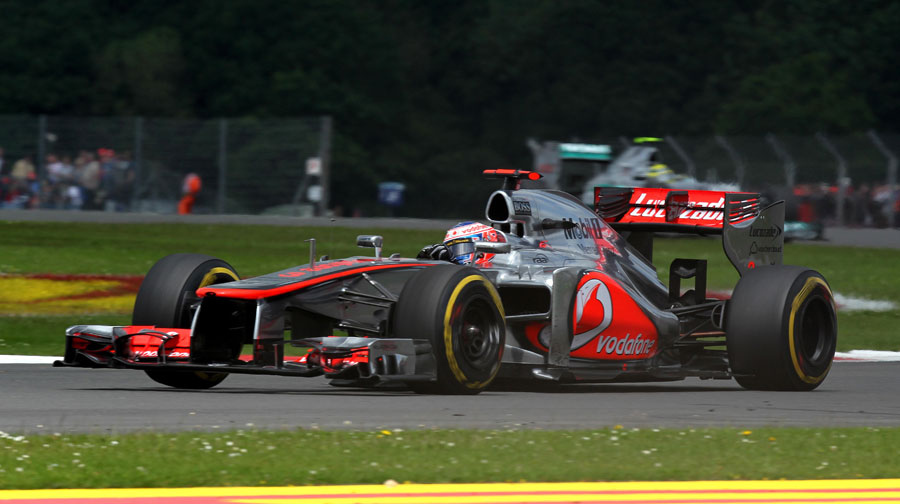 Jenson Button on soft tyres