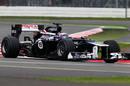 Valtteri Bottas on a hard-tyre run