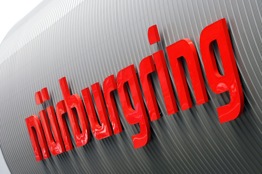 The Nurburgring sign on a new building at the circuit