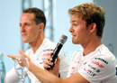 Nico Rosberg answers a question during a FOTA Fans Forum
