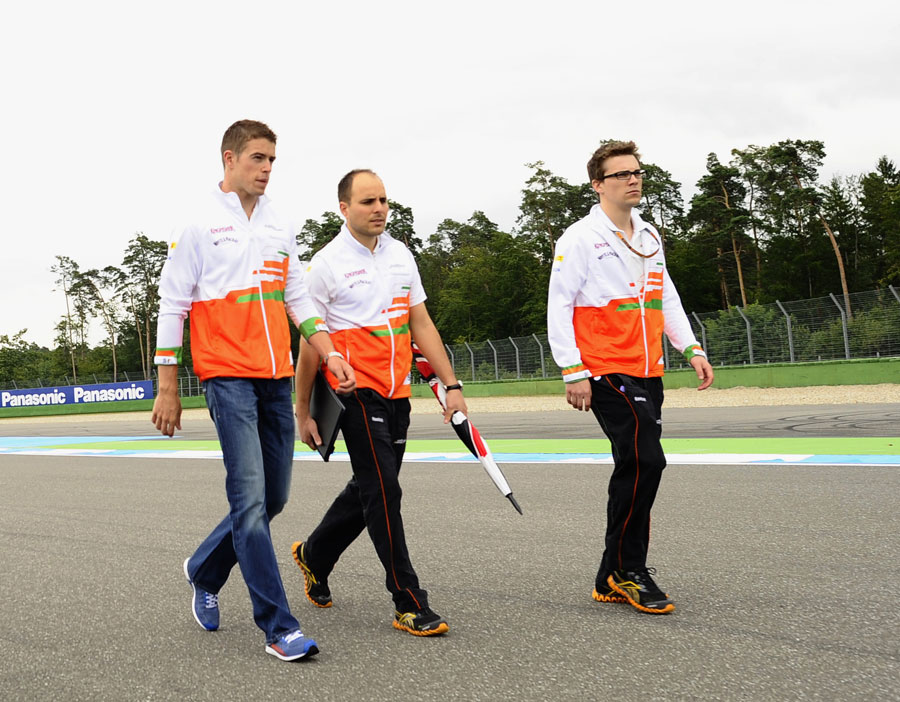 Paul di Resta walks the track on Thursday