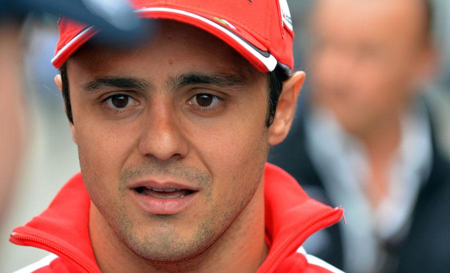 Felipe Massa in the paddock on Thursday
