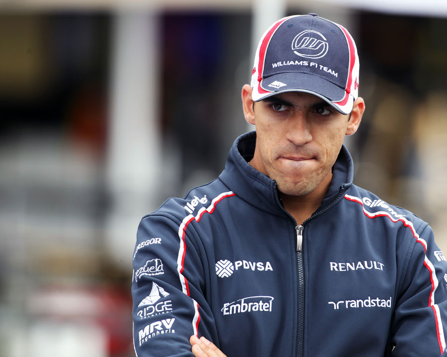 Pastor Maldonado in the paddock on Thursday