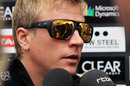 Kimi Raikkonen speaks to the press on Thursday