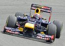 Mark Webber on a soft tyre run