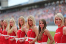 Grid girls line up ahead of the start of the race