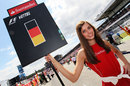 Sebastian Vettel's grid girl ahead of the race