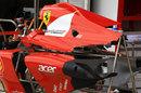 Ferrari bodywork in the pit lane