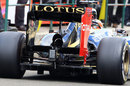 Kimi Raikkonen's Lotus with the team's new double DRS fitted
