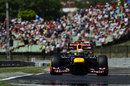 Sebastian Vettel approaches turn eight