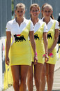 Grid girls ahead of the start of the GP2 race