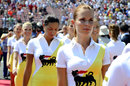 Grid girls ahead of the grand prix