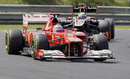 Fernando Alonso leads Kimi Raikkonen on soft tyres