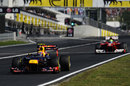 Mark Webber leads Felipe Massa