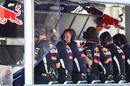 Christian Horner on the Red Bull pit wall