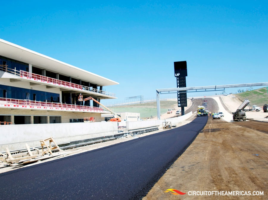 Work continues at the Circuit of the Americas