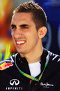 Red Bull reserve driver Sebastien Buemi in the paddock