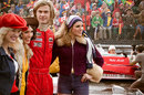 Chris Hemsworth (James Hunt) on the set of the new Universal film <I>Rush</I>