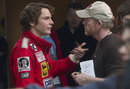 Daniel Bruhl  (Niki Lauda) on the set of the new Universal film <I>Rush</I>