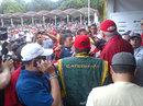 Pastor Maldonado greets a large crowd in Caracas