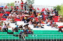 Fans scattered throughout the grandstands during Friday practice