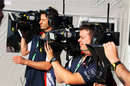 Sky cameramen in the paddock