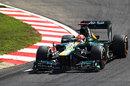 Heikki Kovalainen on track