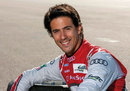 Lucas di Grassi poses for a photo in Audi overalls