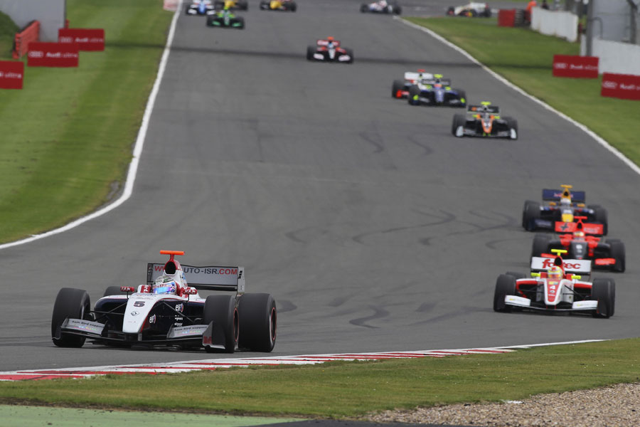 Sam Bird leads Antonio Felix da Costa and Jules Bianchi at Silverstone
