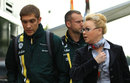 Vitlay Petrov in the paddock with manager Oksana Kosachenko