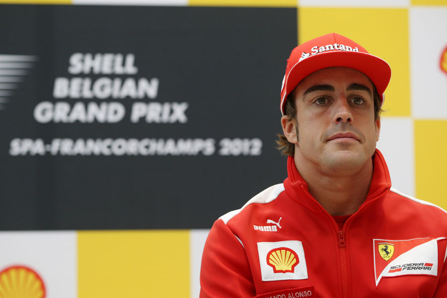 Fernando Alonso at a Shell press conference on Thursday morning
