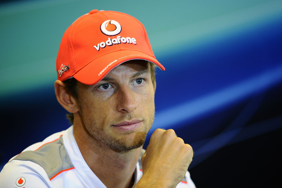 Jenson Button in the Thursday afternoon press conference
