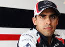 Pastor Maldonado in the Williams motor home
