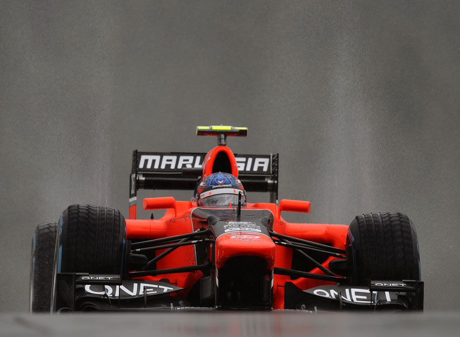Charles Pic returns to the pits in the Marussia