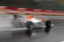Nico Hulkenberg at speed in the Force India
