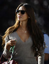 Jessica Michibata arrives in the paddock