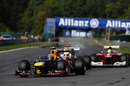 Mark Webber leads Paul di Resta and Felipe Massa