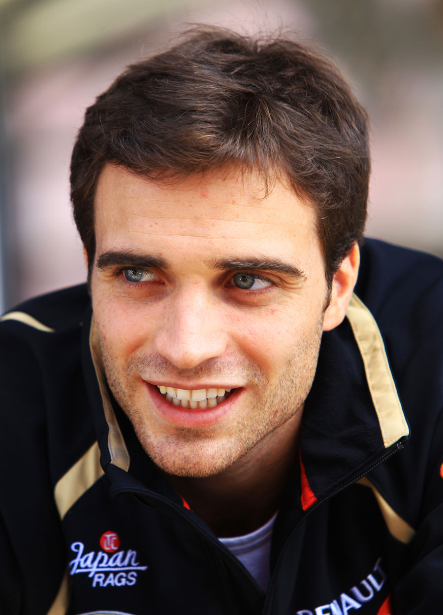 Lotus test driver Jerome d'Ambrosio in the paddock