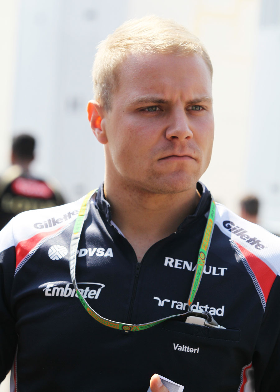 Valtteri Bottas in the paddock