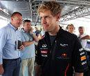 Sebastian Vettel in the Red Bull Energy Station