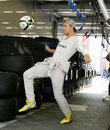 Nico Rosberg shows off his footballing skills