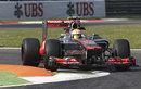 Lewis Hamilton attacks the Roggia chicane